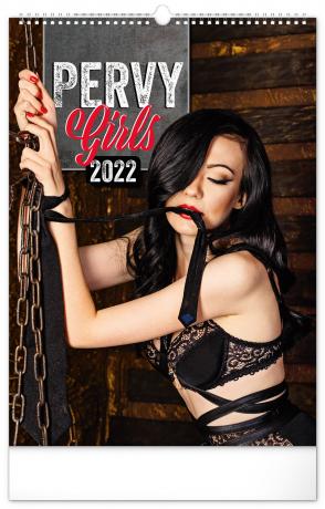 Nástěnný kalendář Pervy Girls 2022, 33 × 46 cm