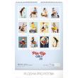 Nástěnný kalendář Pin-up Girls 2019, 33 x 46 cm
