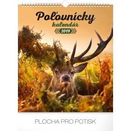 Nástěnný kalendář Poľovnícky SK 2019, 30 x 34 cm