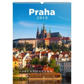 Wall calendar Praha 2018, 33 x 46 cm