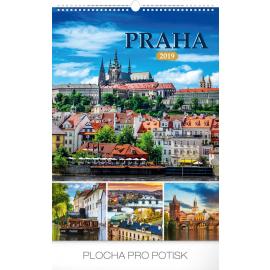 Wall calendar Prague 2019, 33 x 46 cm