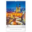 Nástěnný kalendář Praha 2020, 33 × 46 cm
