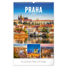 Wall calendar Prague 2020, 33 × 46 cm