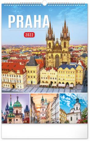 Nástěnný kalendář Praha 2022, 33 × 46 cm