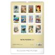 Nástěnný kalendář Retro plakáty 2020, 33 × 46 cm