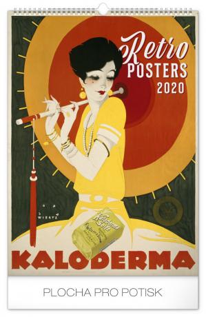Wall calendar Retro Posters 2020, 33 × 46 cm