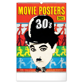 Wall calendar Movie Posters 30's 2021, 33 × 46 cm