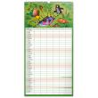 Wall calendar Family planner The Little Mole XXL 2022, 33 × 64 cm