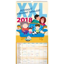 Wall calendar Rodinný plánovací XXL 2018, 33 x 64 cm