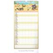 Nástěnný kalendář Rodinný plánovací XXL 2019, 33 x 64 cm