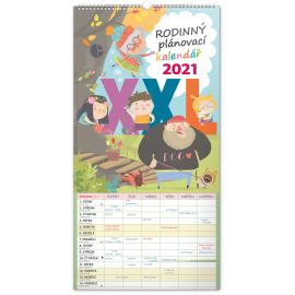 Wall calendar Family planner XXL 2021, 33 × 64 cm