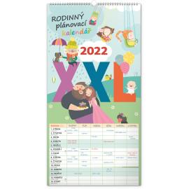 Nástěnný kalendář Rodinný plánovací XXL 2022, 33 × 64 cm