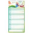 Nástěnný kalendář Rodinný plánovací XXL – Ledové království 2020, 33 × 64 cm