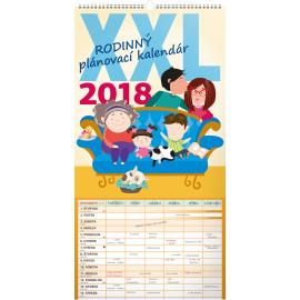 Nástěnný kalendář Rodinný plánovací XXL SK 2018, 33 x 64 cm