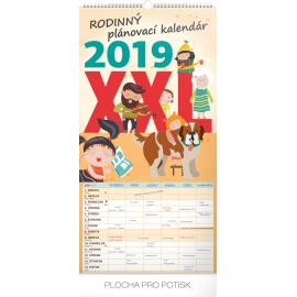 Wall calendar Family planner XXL SK 2019, 33 x 64 cm