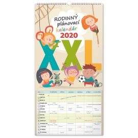 Nástěnný kalendář Rodinný plánovací XXL SK 2020, 33 × 64 cm