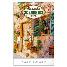 Wall calendar Romantic Sceneries 2020, 33 × 46 cm