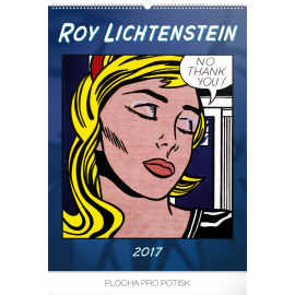 Nástěnný kalendář Roy Lichtenstein – Tvorba ze 60. let 2017, 48 x 64 cm