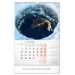 Nástěnný kalendář Rybářský 2020, 33 × 46 cm
