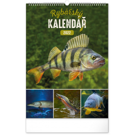 Wall calendar Fishing 2022, 33 × 46 cm