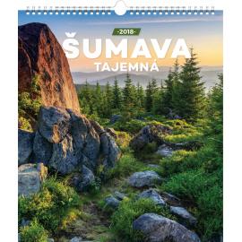 Nástěnný kalendář Šumava tajemná 2018, 30 x 34 cm