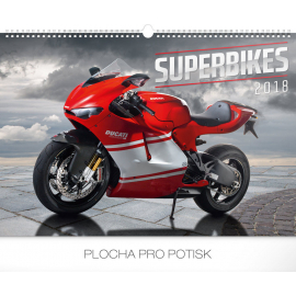 Wall calendar Superbikes 2018, 48 x 33 cm