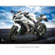 Nástěnný kalendář Superbikes 2019, 48 x 33 cm