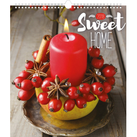Wall calendar Sweet Home 2018, 30 x 34 cm