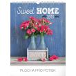 Nástěnný kalendář Sweet home 2019, 30 x 34 cm
