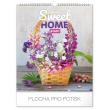 Nástěnný kalendář Sweet home 2020, 30 × 34 cm