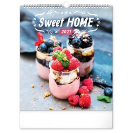 Wall calendar Sweet Home 2021, 30 × 34 cm