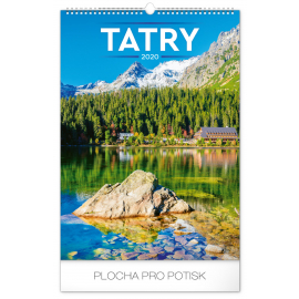 Nástěnný kalendář Tatry 2020, 33 × 46 cm