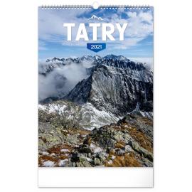Nástěnný kalendář Tatry SK 2021, 33 × 46 cm