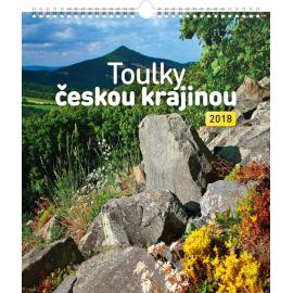 Nástěnný kalendář Toulky českou krajinou 2018, 30 x 34 cm
