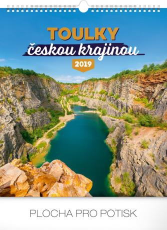 Nástěnný kalendář Toulky českou krajinou 2019, 30 x 34 cm
