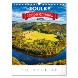 Wall calendar Wanders around Czech landscape 2020, 30 × 34 cm