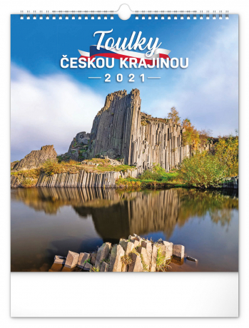 Nástěnný kalendář Toulky českou krajinou 2021, 30 × 34 cm