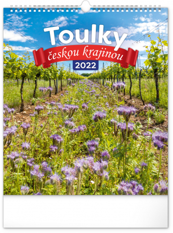 Nástěnný kalendář Toulky českou krajinou 2022, 30 × 34 cm