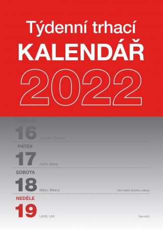 Nástěnný kalendář Trhací týdenní 2022, A5