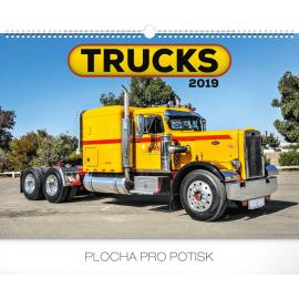 Wall calendar Trucks 2019, 48 x 33 cm