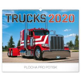 Nástěnný kalendář Trucks 2020, 48 × 33 cm