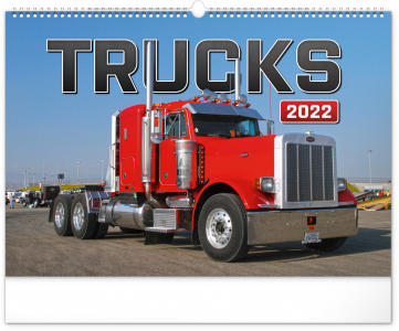 Nástěnný kalendář Trucks 2022, 48 × 33 cm