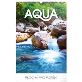 Wall calendar Aqua 2018, 33 x 46 cm