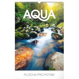 Nástěnný kalendář Voda 2019, 33 x 46 cm