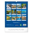 Nástěnný kalendář Vodní království 2020, 30 × 34 cm