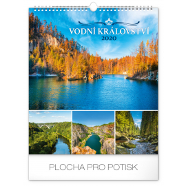Wall calendar Water kingdom 2020, 30 × 34 cm
