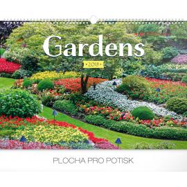 Wall calendar Gardens 2018, 48 x 33 cm