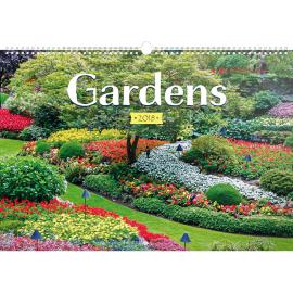 Nástěnný kalendář Zahrady 2018, 48 x 33 cm