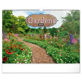 Wall calendar Gardens 2021, 48 × 33 cm