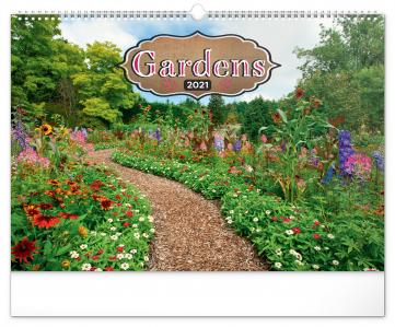 Nástěnný kalendář Zahrady 2021, 48 × 33 cm